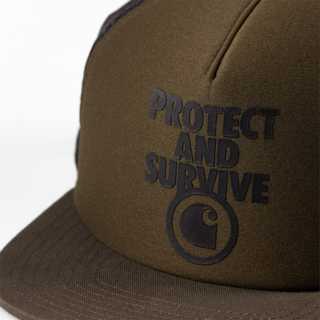 CARHARTT PROTECT & SURVIVE TRUCKER CAP CYPRESS / BLACK1