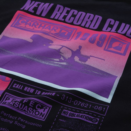 CARHARTT S/S Record Club T-Shirt Black3