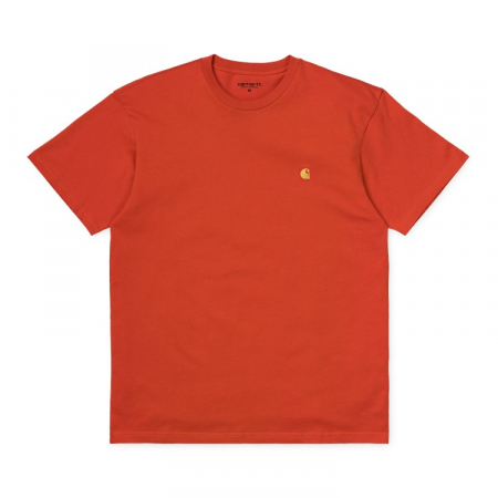 CARHARTT S/S Chase T-Shirt Brick Orange / Gold0