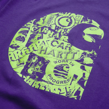 CARHARTT S/S Collage C T-Shirt Snape Purple / Lime1