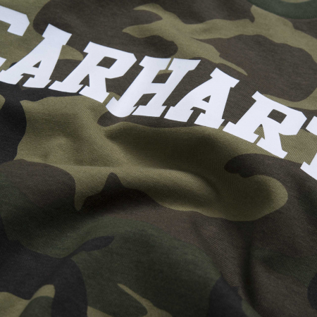 CARHARTT S/S College T-Shirt Camo Laurel / White1
