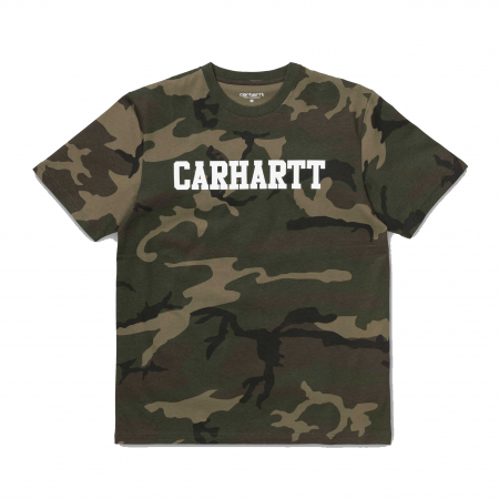 CARHARTT S/S College T-Shirt Camo Laurel / White0