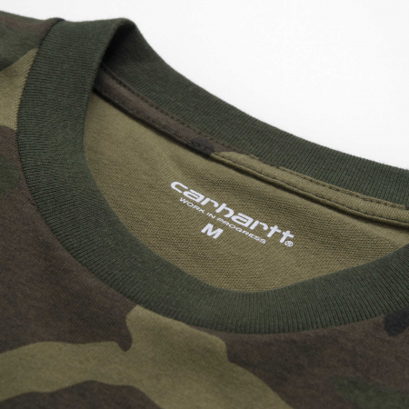 CARHARTT S/S College T-Shirt Camo Laurel / White2