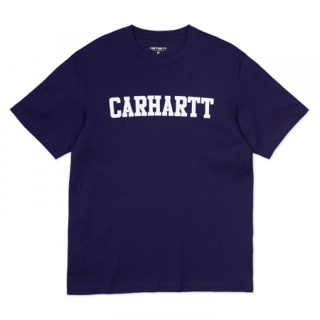 CARHARTT S/S College T-Shirt Royal Violet / White0