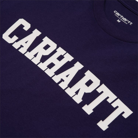 CARHARTT S/S College T-Shirt Royal Violet / White1