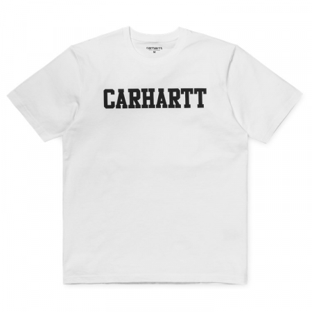 CARHARTT S/S College T-Shirt White / Black0
