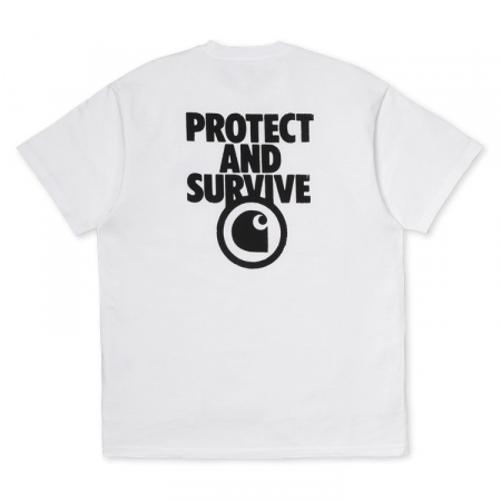 CARHARTT S/S Protect T-Shirt White / Black2
