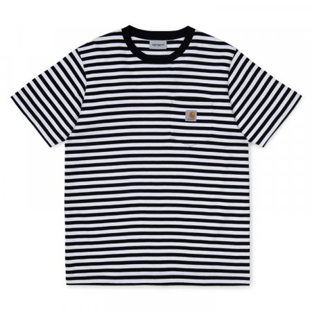 CARHARTT S/S Haldon Pocket T-Shirt Haldon Stripe Black / White0