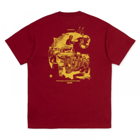 CARHARTT S/S Radio T-Shirt Blast Red / Yellow3