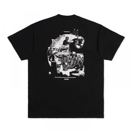 CARHARTT S/S Radio T-Shirt Black / White3
