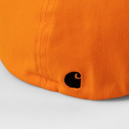 CARHARTT Script Cap Pop Orange / Black2