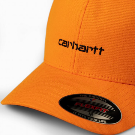 CARHARTT Script Cap Pop Orange / Black1