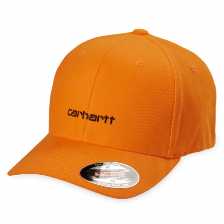 CARHARTT Script Cap Pop Orange / Black0