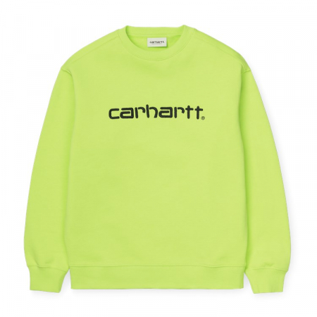 CARHARTT WOMEN CARHARTT SWEAT LIME / BLACK0