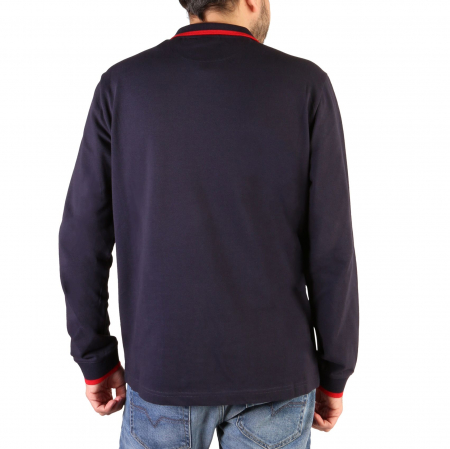 CHAMPION L/S Polo Shirt 214462 BS Navy Blue1