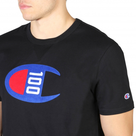 CHAMPION S/S Logo T-Shirt 214371 Black2