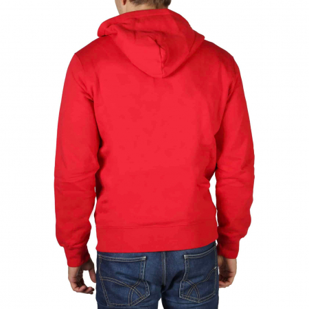 CHAMPION Zip-Up Logo Hooded Sweat 213410 Red1