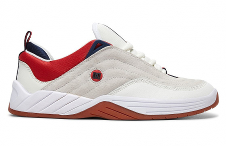 DC SHOES WILLIAMS SLIM WHITE/NAVY/RED0