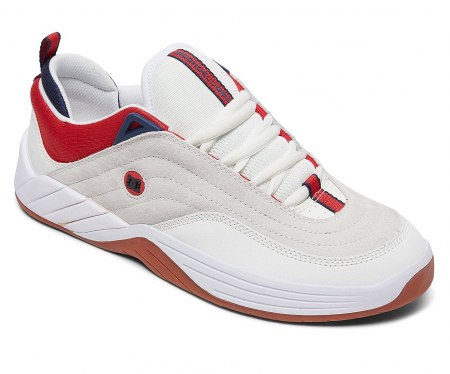 DC SHOES WILLIAMS SLIM WHITE/NAVY/RED2