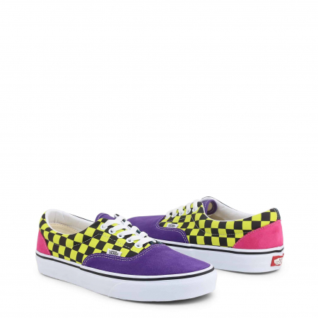 VANS Era Violet / Yellow Checkboard1