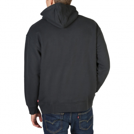 LEVI'S Relaxd Graphic Hooded Sweat Black1