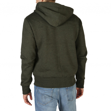 SUPERDRY Orange Label Classic Zip Hoodie Winter Khaki Grit1