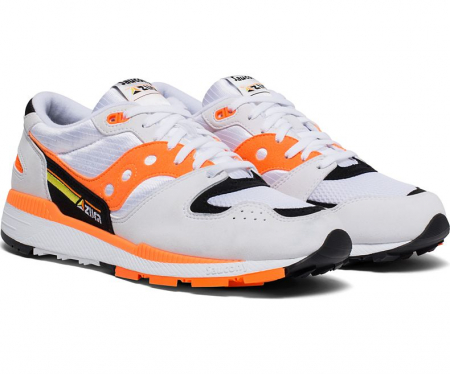 SAUCONY AZURA WHITE/ORANGE/BLACK4