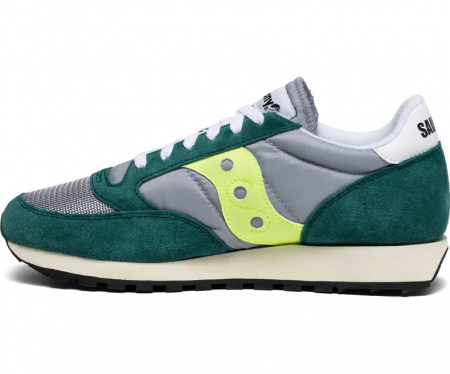SAUCONY JAZZ ORIGINAL VINTAGE GREEN/GREY/NEON1