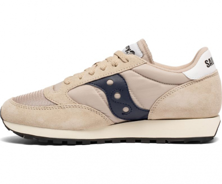SAUCONY JAZZ ORIGINAL VINTAGE TAN/NAVY1