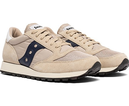 SAUCONY JAZZ ORIGINAL VINTAGE TAN/NAVY4