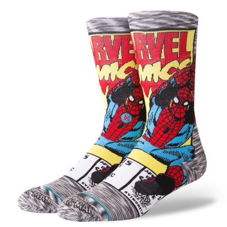 STANCE Spiderman Comic Socks Grey0