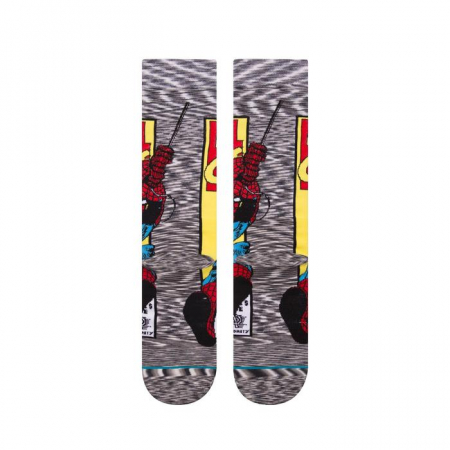 STANCE Spiderman Comic Socks Grey2