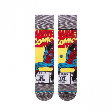 STANCE Spiderman Comic Socks Grey1