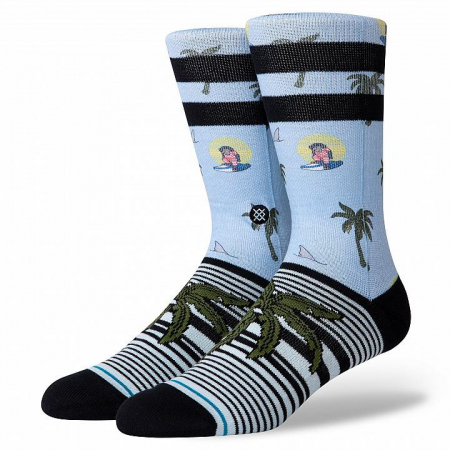 STANCE Aloha Monkey ST Light Blue0
