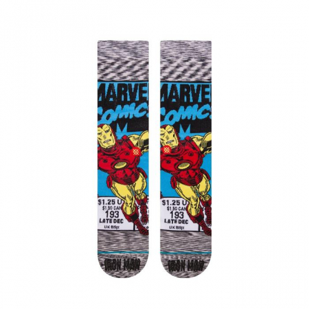 STANCE Iron Man Comic Socks Grey1
