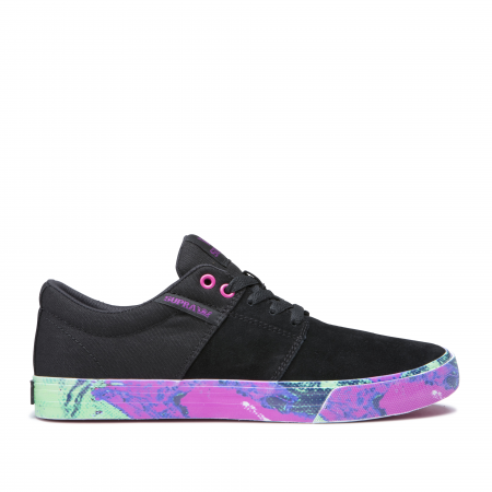 SUPRA STACKS II VULC BLACK-NEON ACID0