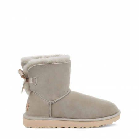 UGG Mini Bailey Bow II Boot Light Grey0