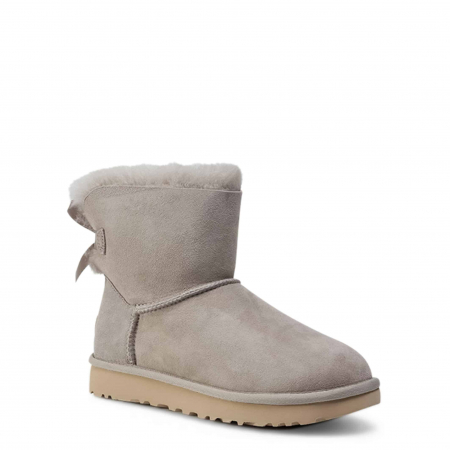 UGG Mini Bailey Bow II Boot Light Grey1