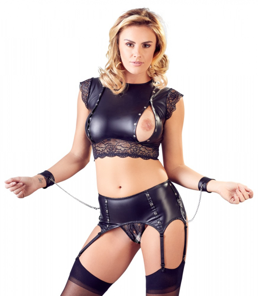 Top and Crotchless Suspender Briefs 1