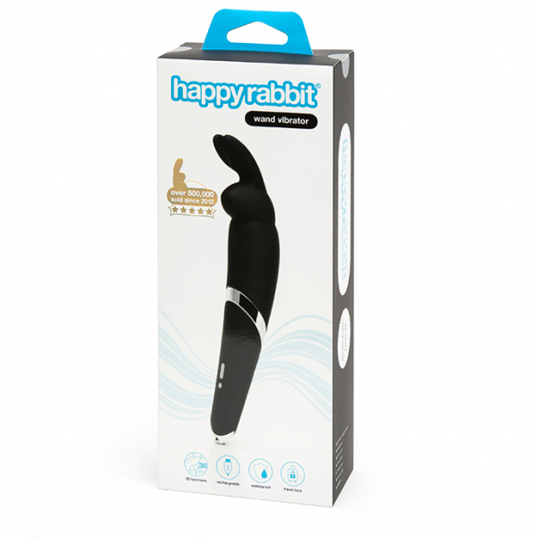 Happy Rabbit - Wand Vibrator Black 4