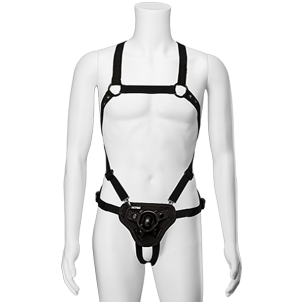 STRAP ON CHEST - SUSPENDER HARNESS w PLUG