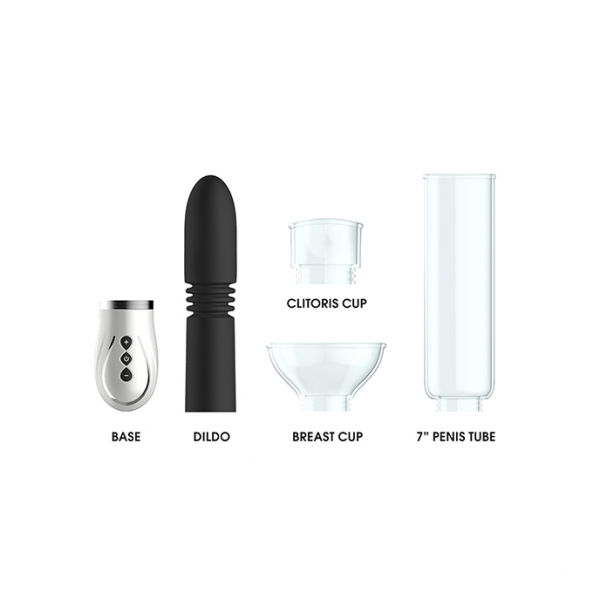 Thruster - 4 in 1 Rechargeable Couples Pump Kit - Black 2