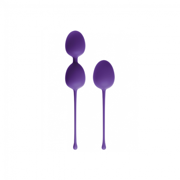 Bile Exercitii Kegel Trainer Set Purple