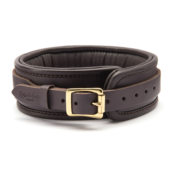 Coco de Mer - Leather Collar Brown 1