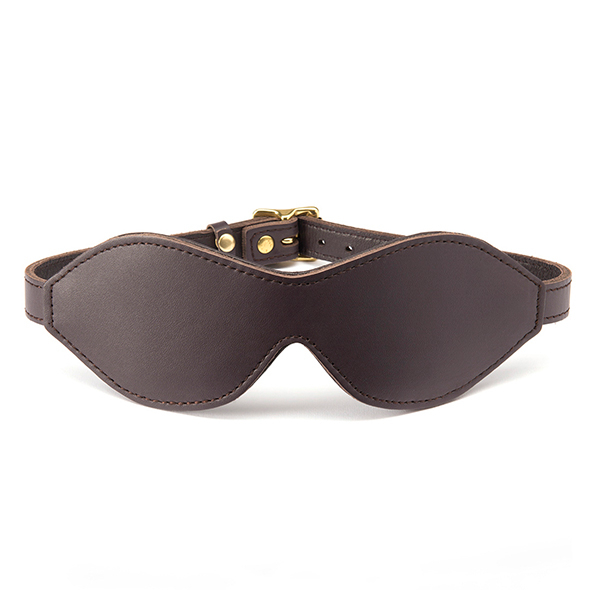 LEATHER BLINDFOLD BROWN