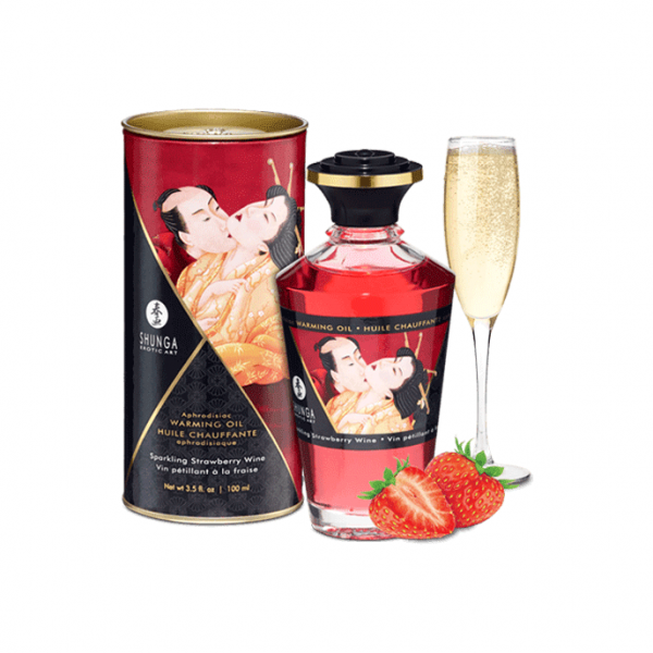 SHUNGA - APHRODISIAC WARMING OIL STRAWBERRY