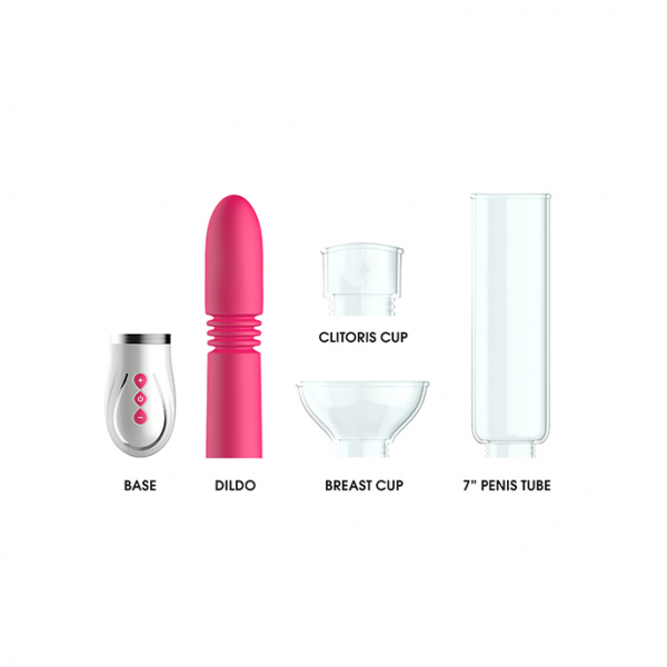 Thruster - 4 in 1 Rechargeable Couples Pump Kit - Pink 2