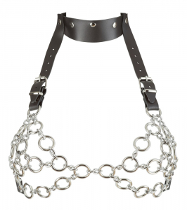 Leather and Metal Bra S-L1