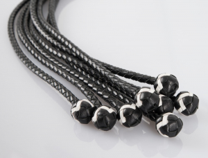 Leather Flogger with Balls 54 cm1