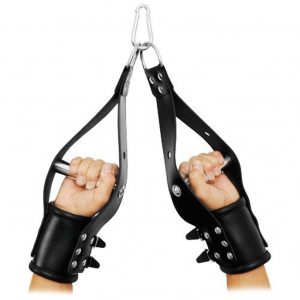 LEATHER ANKLE RESTRAINT WITH HANDLE